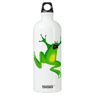 FROG JUMPING -  NEON GREEN FROG WATER BOTTLE