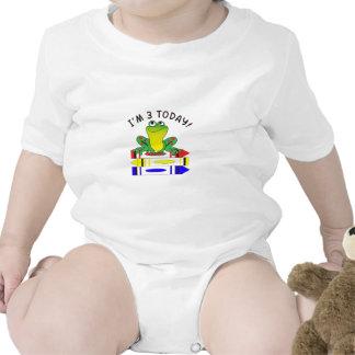 FROG ON CRAYONS BABY BODYSUITS