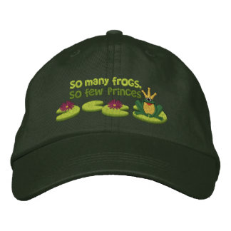Frog Prince Embroidered Hats