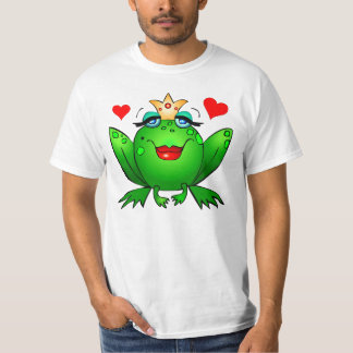 Frog Princess Hearts Cute Green Fairy Tale Frog T-Shirt