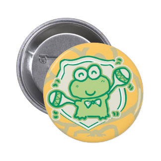 Frog with Maracas Tshirts and Gifts Buttons
