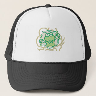 Frog with Maracas Tshirts and Gifts Trucker Hat