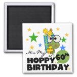 Froggie Hoppy 60th Birthday Square Magnet