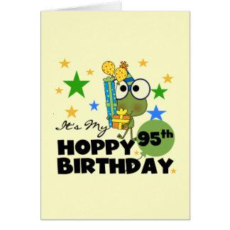 Froggie Hoppy 95th Birthday Greeting Card