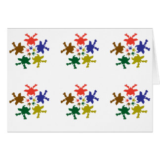 Froggy Dance Skydive : ART101 Tiled Patterns Card