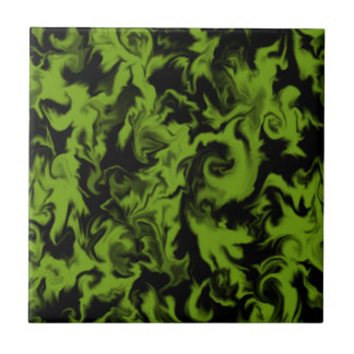 Froggy Green & Black mixed color tile