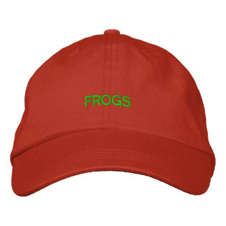 FROGS EMBROIDERED BASEBALL CAP