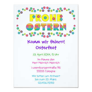 Frohe Ostern 11 Cm X 14 Cm Invitation Card