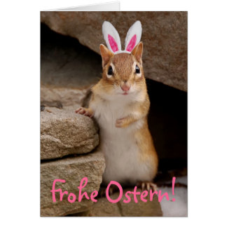 Frohe Ostern Chipmunk Card