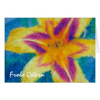 Frohe Ostern Daylily Card