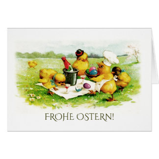 Frohe Ostern. Easter Greeting Cards in German