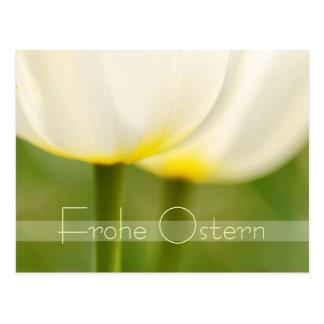 Frohe Ostern Elegant Tulips Postcard