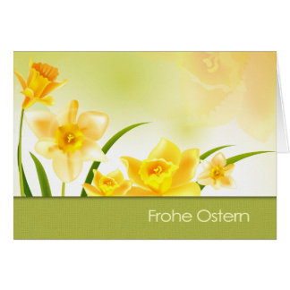 Frohe Ostern . German Easter Greeting Card
