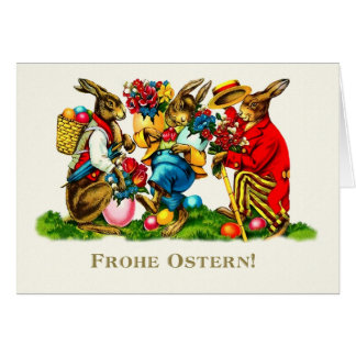 Frohe Ostern. German Easter Greeting Cards