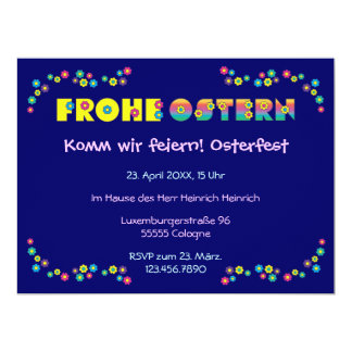 Frohe Ostern 17 Cm X 22 Cm Invitation Card