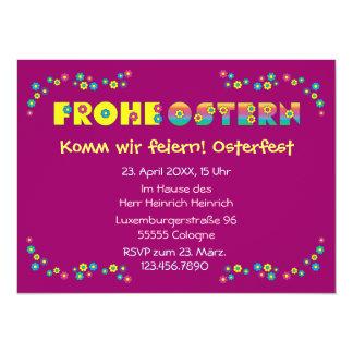 Frohe Ostern 14 Cm X 19 Cm Invitation Card