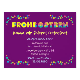Frohe Ostern Announcement