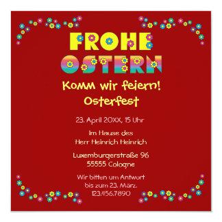 Frohe Ostern Custom Invitations