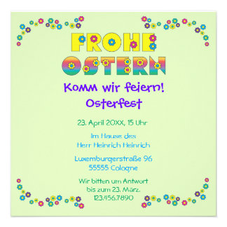 Frohe Ostern Announcements