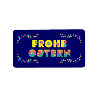 Frohe Ostern Address Label
