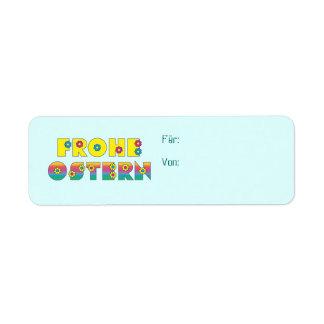 Frohe Ostern Return Address Label