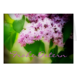Frohe Ostern Lilacs Card