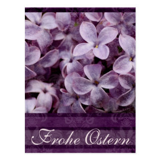 Frohe Ostern Lilacs Postcard