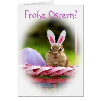 Frohe Ostern Little Chipmunk Card