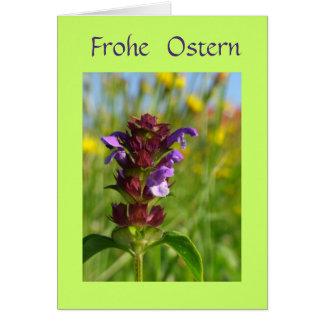 Frohe Ostern mit Blumen Card