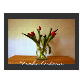 Frohe Ostern Tulips Postcards