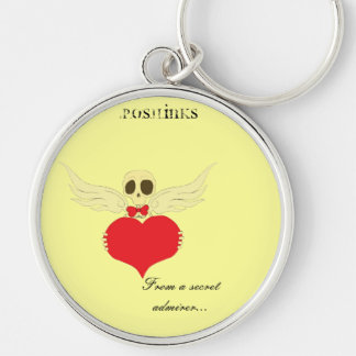 From a secret admirer...keychain by P.O.S.H.Inks Silver-Colored Round Key Ring