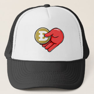 From Doge With Love Dogecoin the Heart Shape Trucker Hat