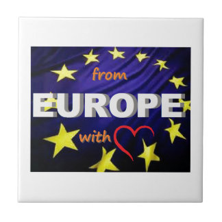 from europe with love small square tile