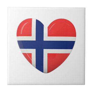 From Norway With Love Small Square Tile