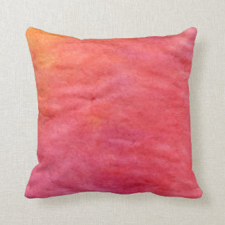 from orange to light red throw pillow