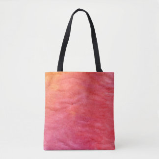 from orange to light red tote bag
