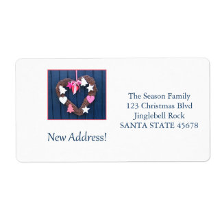 From our new address Christmas Wreath Shipping Label