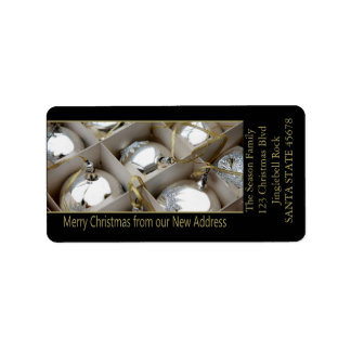 From our new Address Silver Ornaments Address Label