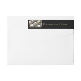 From our new Address Silver Ornaments Wrap Around Label