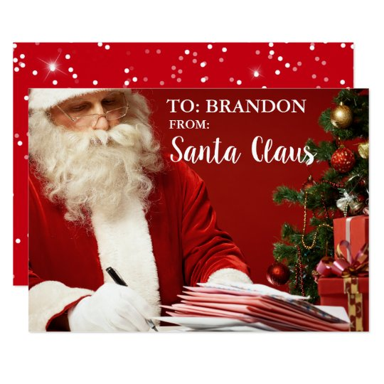 From Santa Claus ADD NAME Personalised S Card