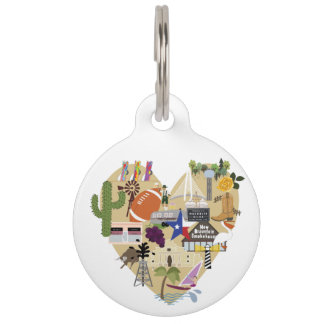 From Texas with Love Pet Tag