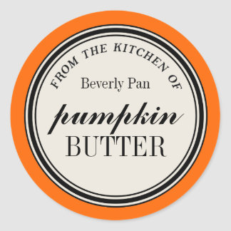 """""""From the Kitchen of"""" Circle Label Template Round Sticker"""