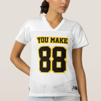 Front BLACK GOLDEN YELLOW WHITE Women Sport Jersey