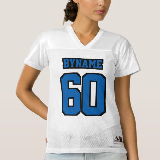 Front BLUE BLACK WHITE Womens Football Jersey
