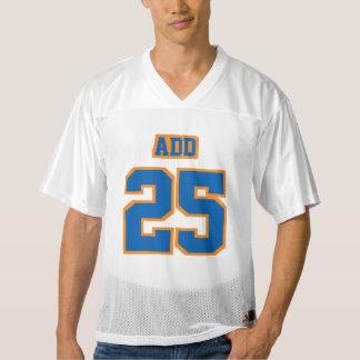 Front BLUE ORANGE WHITE Mens Football Jersey