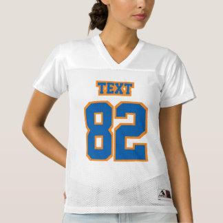 Front BLUE ORANGE WHITE Womens Football Jersey