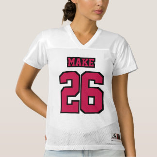 Front CRIMSON RED BLACK WHITE Womens Sports Jersey