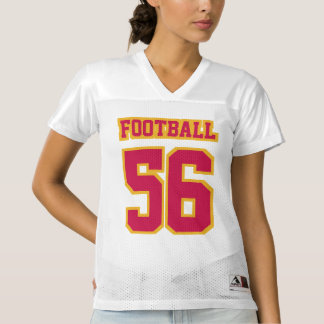 Front CRIMSON RED GOLD WHITE Womens Sports Jersey