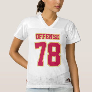 Front CRIMSON RED OLD GOLD WHITE Womens Jersey