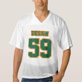 Front DARK GREEN ORANGE WHITE Mens Football Jersey